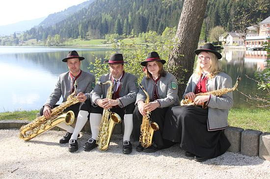 Saxophon-Es,-Tenorsaxophon,
